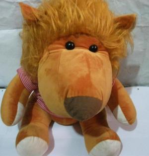 Peluche de león altura 45 cm, antialergico, bolsa de