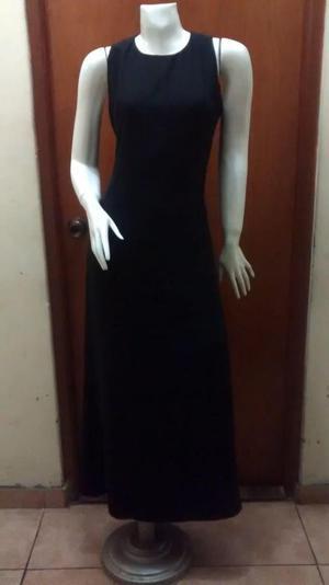 Vestido de Fiesta de gasa Color Negro con Forro