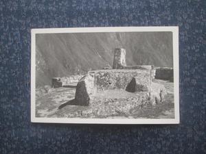 Antigua foto postal RUINAS DEL BARRIO INDIGENA MACHU PICHU
