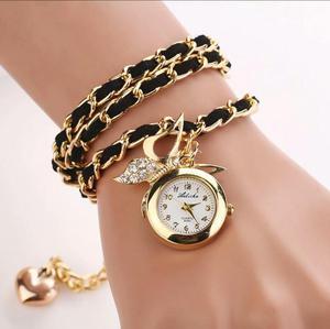 Reloj Pulsera Cuero Vintage para Mujer