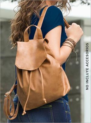 mochila bolso tipo morral para mujer leonisa d14