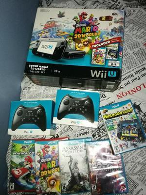 Consola Nintendo Wii U Dos Mandos Y 5 Juegos