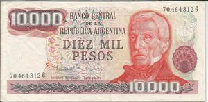 Billete de Argentina usado Lt. 24