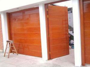 puertas de madera principales e interiores carpinteria