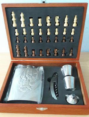 Juego de ajedrez con chata regalo para hombre