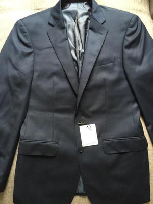 SALE OFF Blazer Lana Clavin Klein Talla 40R Slim Fit azul