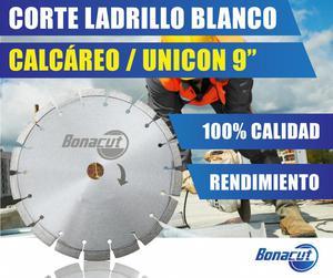 DISCO BONACUT Diamantado Corte en Ladrillo Blanco y Unicon
