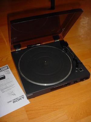 Tornamesa sony PSLX60 con aguja original y manual