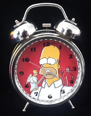 Reloj Despertador Estilo Vintage Homero Simpson Mesa Alarma