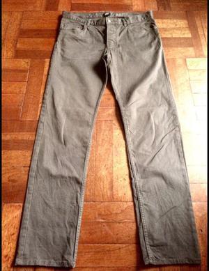 Pantalón Hym Hm Slim Fit Gris Oscuro 32