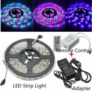 Tiras de luces LED de 5 metros, 220 V a colores con control