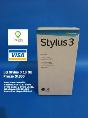 LG Stylus 3 sellado 16 GB, tienda física caja sellada