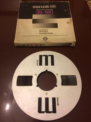 Cinta para grabadora de carrete open reel Maxell de 10