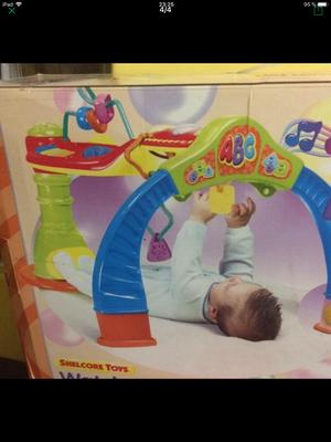 Juguete interactivo para bebés, musical, giratorio