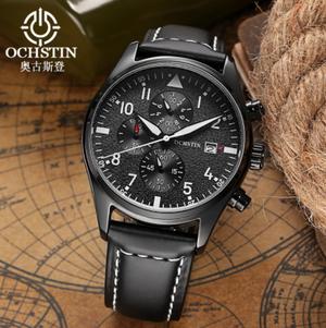 Reloj con correa de cuero Ochstin.