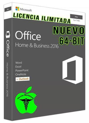 Licencia Office Mac Hogar Y Empresa -bit - Link