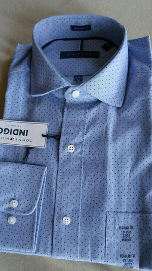 Camisa Tommy Hilfiger Blue Polka Dot Nueva y Original