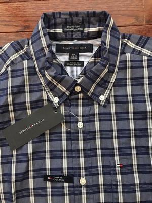 Camisa Tommy Hilfiger Tissu Double Retors 80Fils Nueva