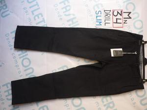 Pantalon Varon Drill Talla 34 Van Heusen Negro Nuevo Pc34d