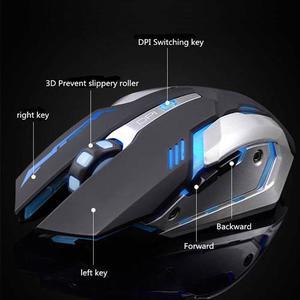 Mouse Usb Óptico Recargable Juegos dpi Inalámbrico