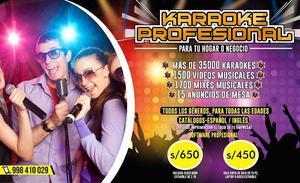 karaoke profesional para casa o negocio