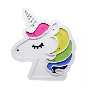 Lámpara Unicornio Madera