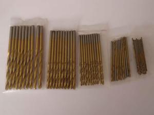 BROCAS c/TITANIO Jgo 50 Pzas de  y 3 mm 10c/u