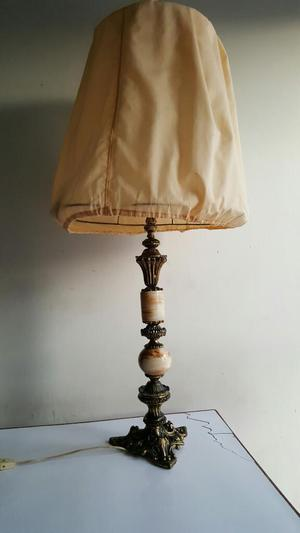 Antigua Lampara de Bronce Y Marmol
