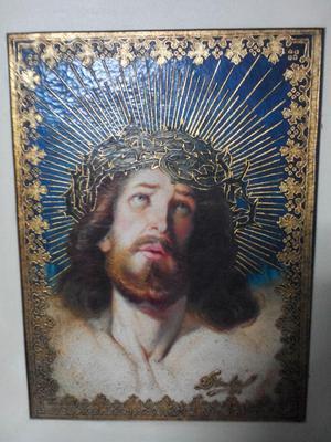 Hermozo Oleo de Jesus en Alto Relieve