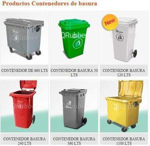 Contenedores De Basura, 50, 120, 240, 360, 660 Y 1100 Lts