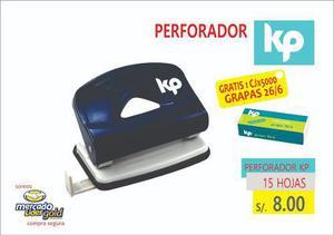 Oferta Perforador Metal Oficina Kp 15 Hojas S/. 8.00