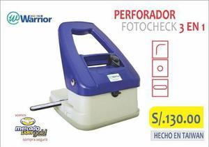 Perforador Fotocheck Warrior 3 En 1 S/. 130.00