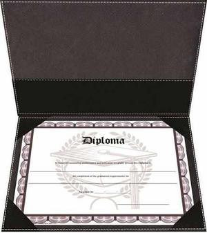 Porta Titulo Diploma Certificado A4 De Biocuero Gjleather