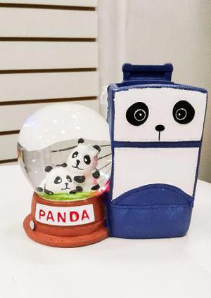 Portalapicero Con Luces De Oso Panda