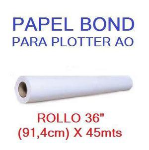 Rollo Papel Plotter A0 (91,4 Cm) X 45 Mts