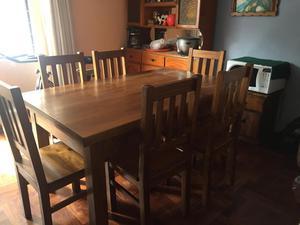 Ofertón: Juego de comedor, mesa rectangular y 6 sillas