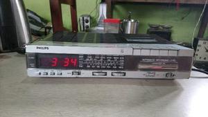 Antiguo Radio Reloj Despertador Philips Funcionando