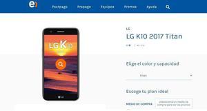 Celular Lg K10 Nuevo