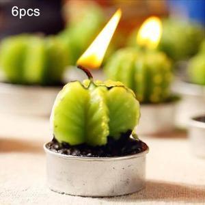 Forma Cera Parafina Cactus Creativo Sin Humo Artesania Vela