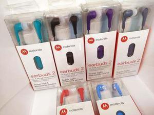 Audifonos Motorola Earbuds 2 Con Micrófono Chupón Colores
