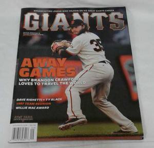 Baseball Revista Giants San Francisco Beisbol Gigantes Sf