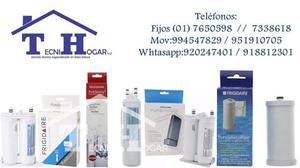 Servicio de venta de filtros para refrigeradoras internas y