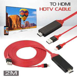 Cable Hdmi De Video Para Apple Ipad Iphone 5,6,7 A Tv