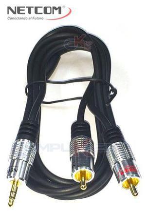 Cable Plug A Rca, Plug A Plug Y Extension Plug Netcom 1.80 M
