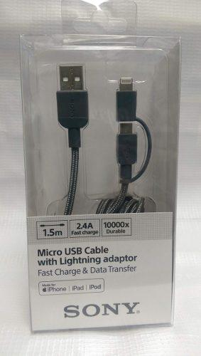 Cable Usb Original Duo Sony Para Android-iphone