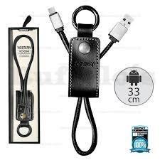 Cable Usb Remax (android) Llavero De Cuero.
