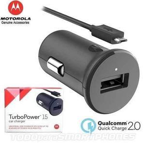 Cargador Auto Motorola Turbo Power 15 Carga Rapida Original