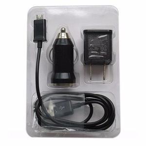 Kit Cargador 3 En 1 Cable Micro Usb Para Samsung Blackberry