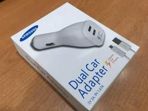 Samsung Cargador De Auto Carga Rapida Dual S6 Edge S7