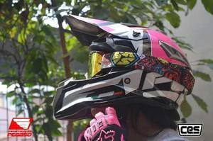 Casco Moto Cross Cert Dot Ces Pink En Oferta Pegaso